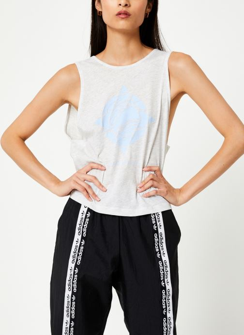 Vêtements adidas performance Graphic Tank Wl Blanc vue droite