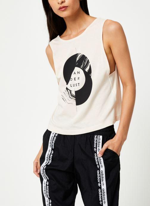Vêtements adidas performance Graphic Tank Wl Beige vue droite