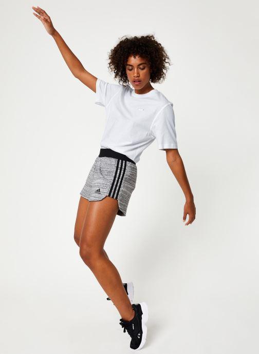 Vêtements adidas performance W Mh Hthr Short Gris vue bas / vue portée sac