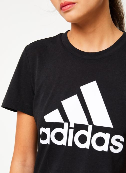 Vêtements adidas performance W Mh Bos Tee Noir vue face