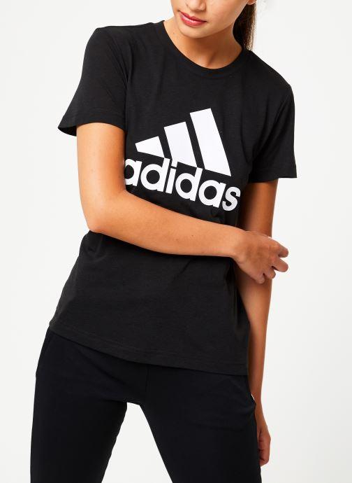 Vêtements adidas performance W Mh Bos Tee Noir vue droite