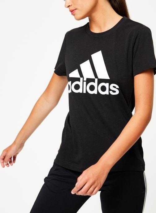 Vêtements adidas performance W Mh Bos Tee Noir vue détail/paire