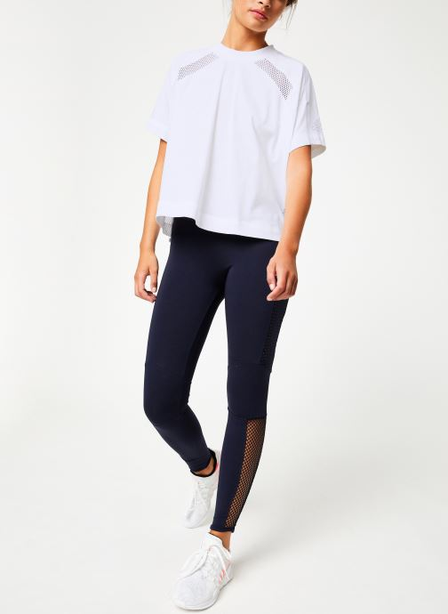 Vêtements adidas performance W Zne Tee Blanc vue bas / vue portée sac