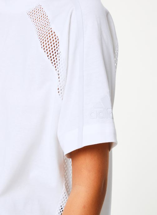 Vêtements adidas performance W Zne Tee Blanc vue face