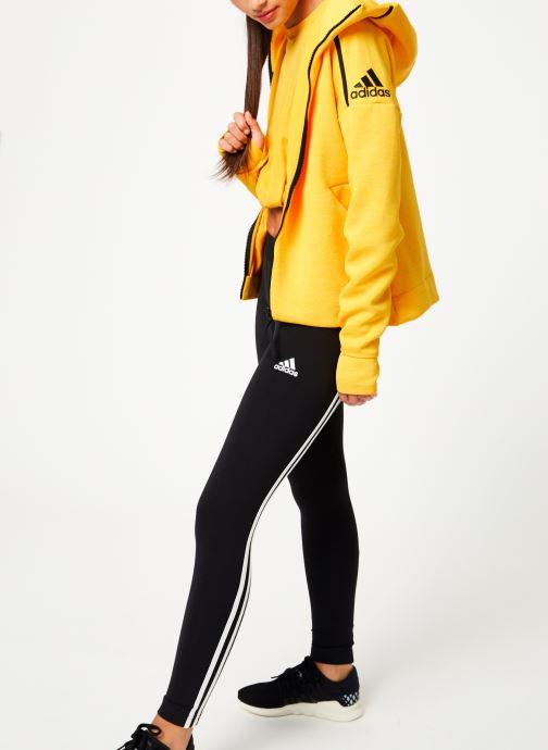Vêtements adidas performance W Zne Hd Fr Jaune vue bas / vue portée sac