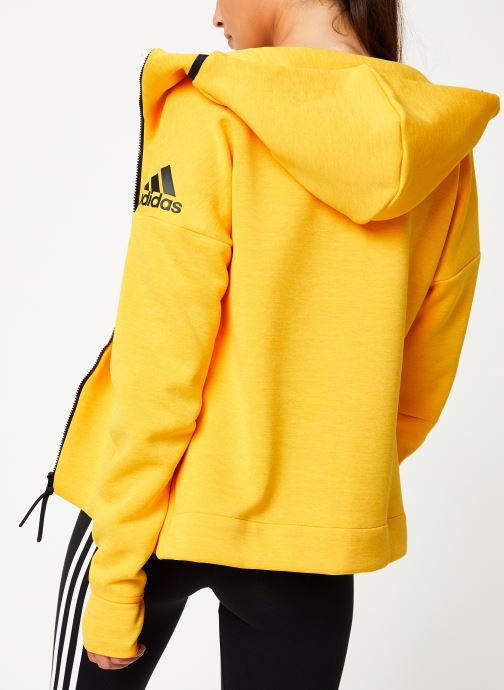 Kleding adidas performance W Zne Hd Fr Geel model