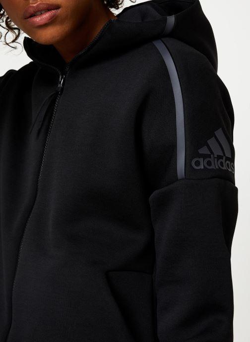 Vêtements adidas performance W Zne Hd Fr Noir vue face