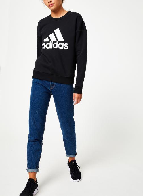 Vêtements adidas performance W Mh Bos Crew Noir vue bas / vue portée sac