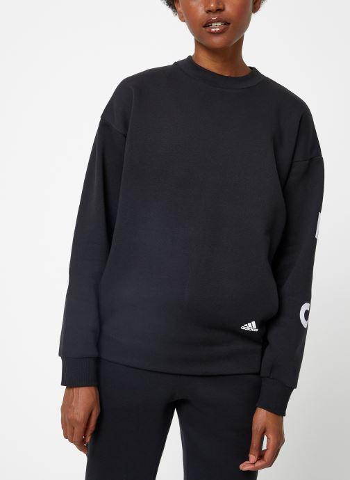Vêtements adidas performance W S2S Swt Crew Noir vue droite