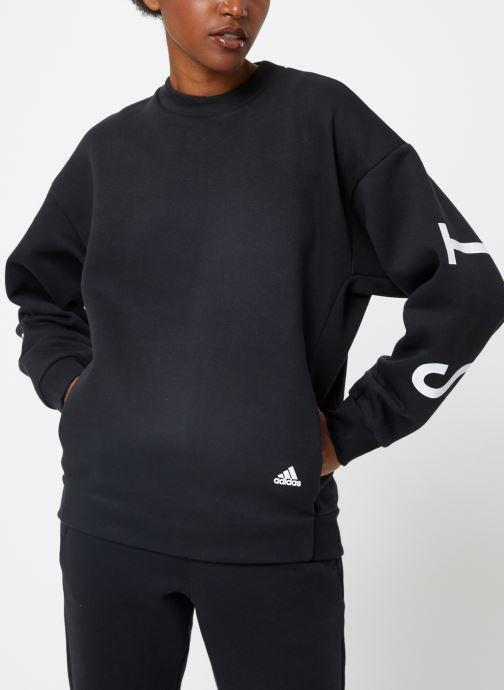 Vêtements adidas performance W S2S Swt Crew Noir vue détail/paire