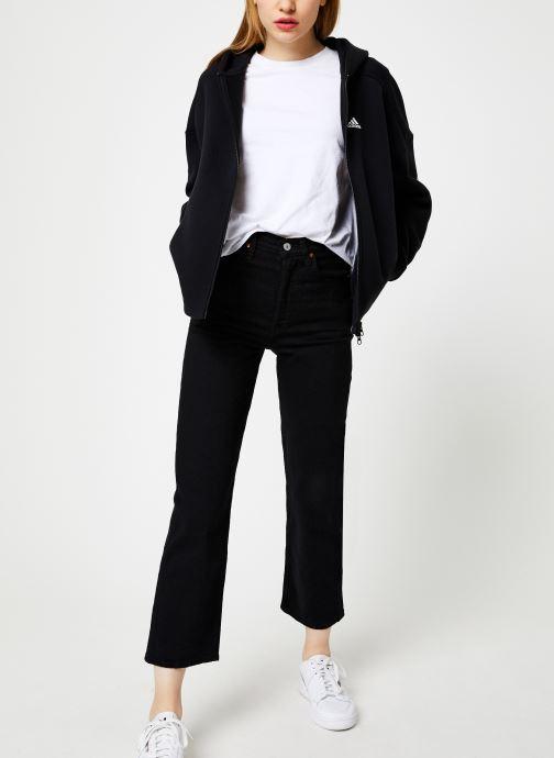 Vêtements adidas performance W S2S Swt Fzhd Noir vue bas / vue portée sac