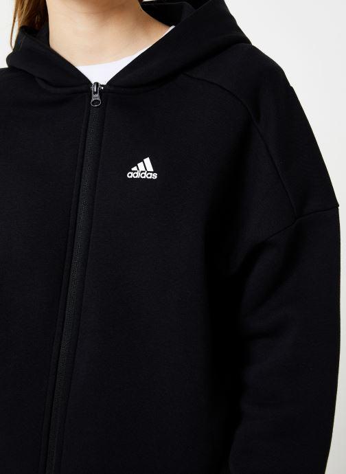 Vêtements adidas performance W S2S Swt Fzhd Noir vue face