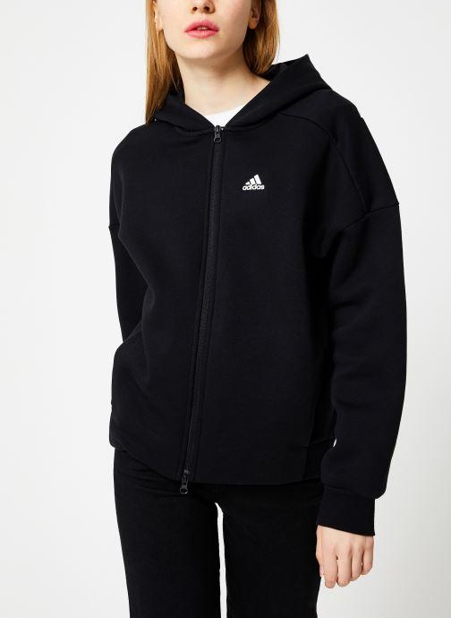 Vêtements adidas performance W S2S Swt Fzhd Noir vue droite