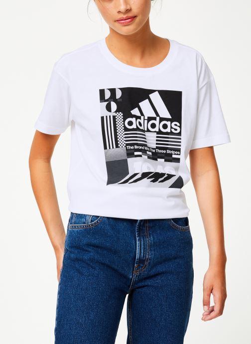 Vêtements adidas performance W Mh Graphic T Blanc vue droite