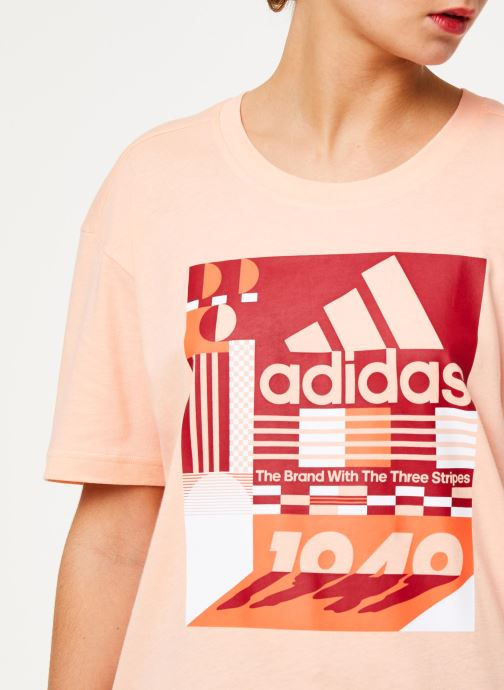 Vêtements adidas performance W Mh Graphic T Rose vue face