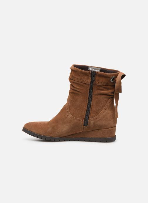 Bottines et boots Tamaris Patti Marron vue face