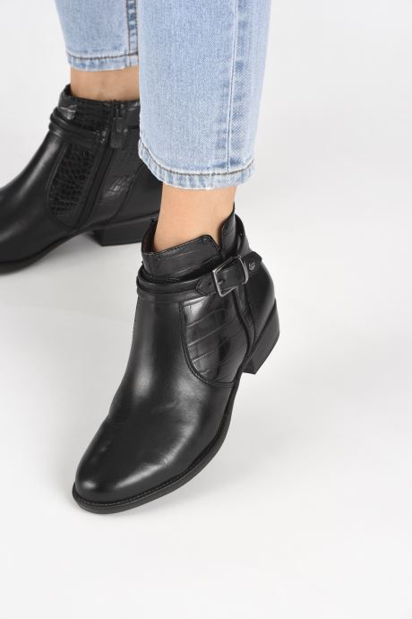 Bottines et boots Tamaris Riley Noir vue bas / vue portée sac