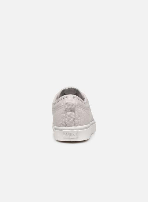 Baskets adidas originals Nizza Trefoil W Gris vue droite