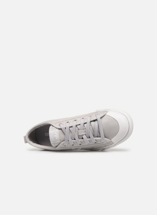 Baskets adidas originals Nizza Trefoil W Gris vue gauche