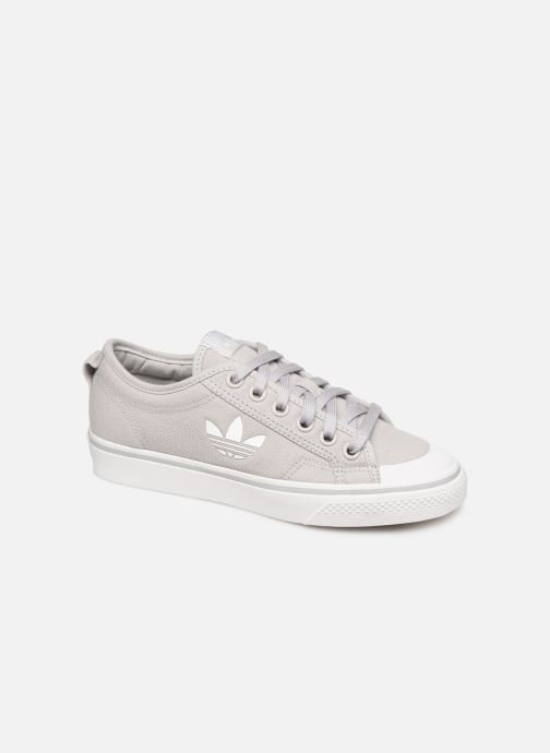 Baskets adidas originals Nizza Trefoil W Gris vue détail/paire
