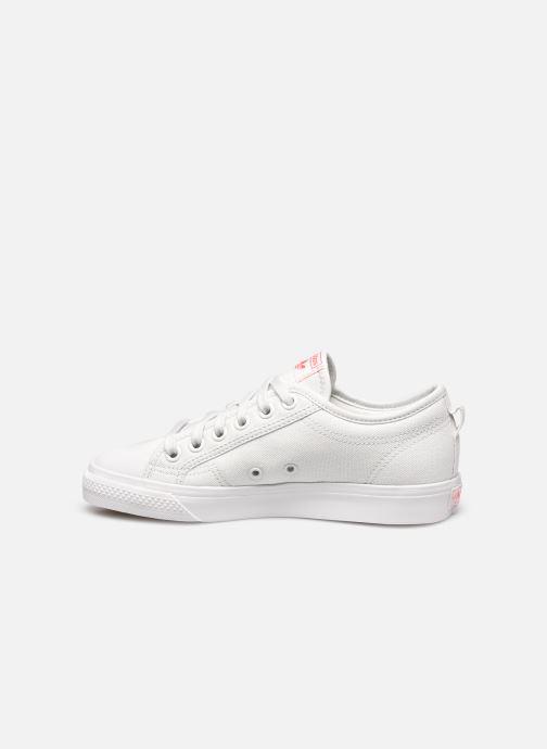 Baskets adidas originals Nizza Trefoil W Blanc vue face