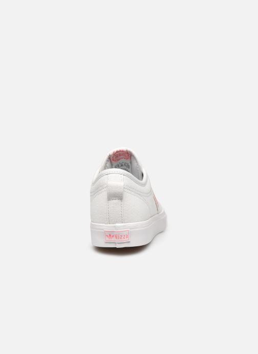 Baskets adidas originals Nizza Trefoil W Blanc vue droite