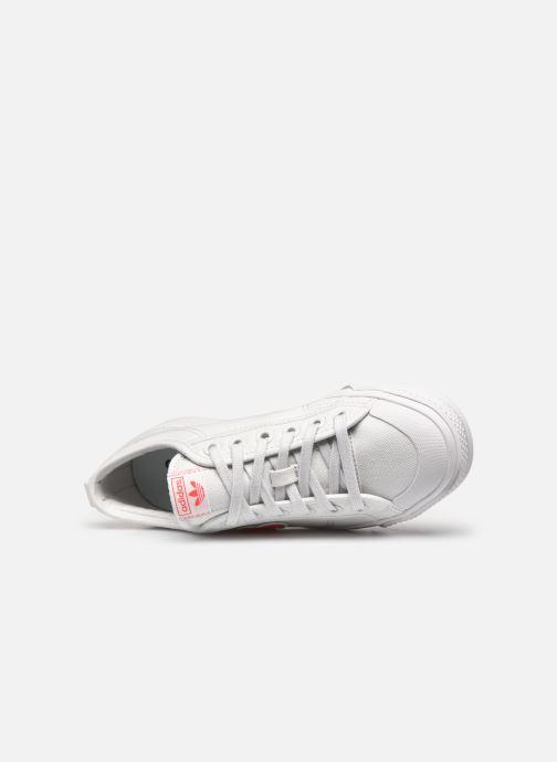 Sneaker adidas originals Nizza Trefoil W weiß ansicht von links