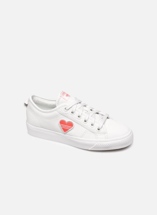 Trainers adidas originals Nizza Trefoil W White detailed view/ Pair view