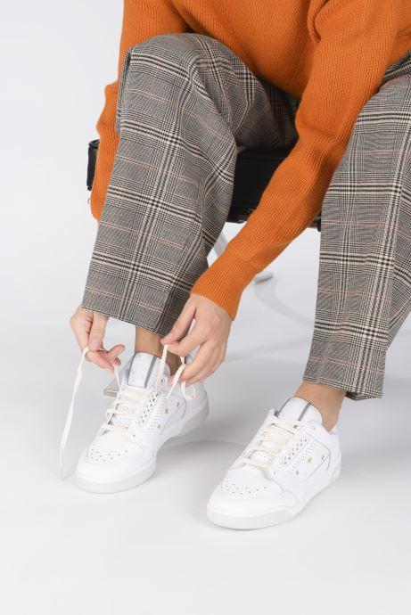 Baskets adidas originals Slamcourt W Blanc vue bas / vue portée sac
