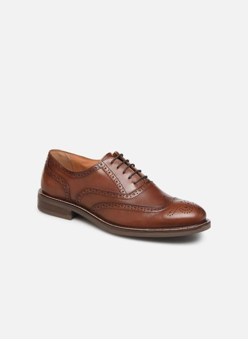 Lace-up shoes Marvin&co Rossano Brown detailed view/ Pair view