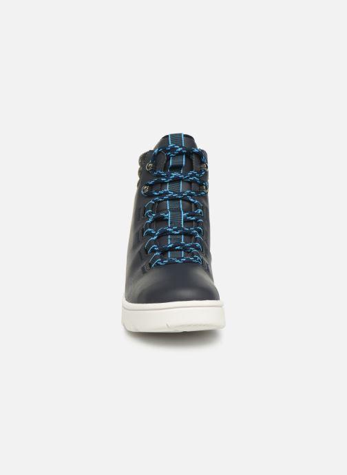Chaussures de sport Cloudsteppers by Clarks Step ExplorHi. Bleu vue portées chaussures