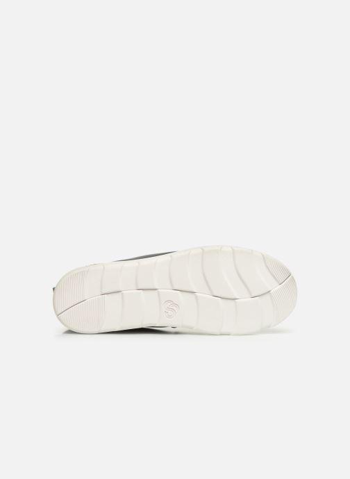 Chaussures de sport Cloudsteppers by Clarks Step ExplorHi. Bleu vue haut