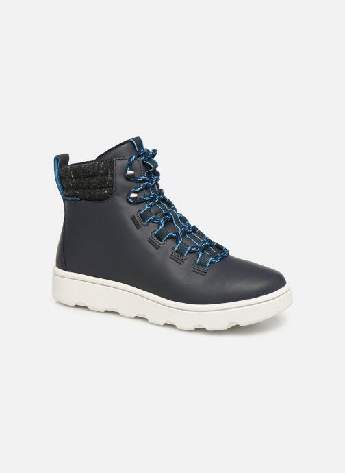 Chaussures de sport Cloudsteppers by Clarks Step ExplorHi. Bleu vue détail/paire