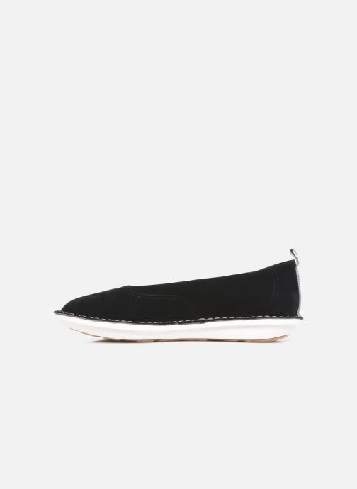 Ballerines Cloudsteppers by Clarks Step WeltEase. Noir vue face