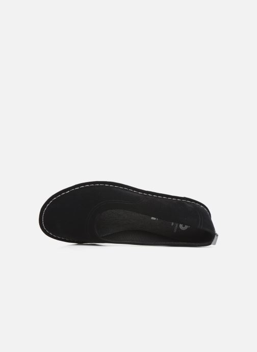 Bailarinas Cloudsteppers by Clarks Step WeltEase. Negro vista lateral izquierda