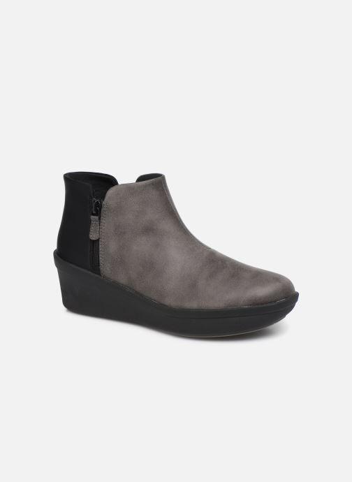 Bottines et boots Cloudsteppers by Clarks Step Rose Up Gris vue détail/paire