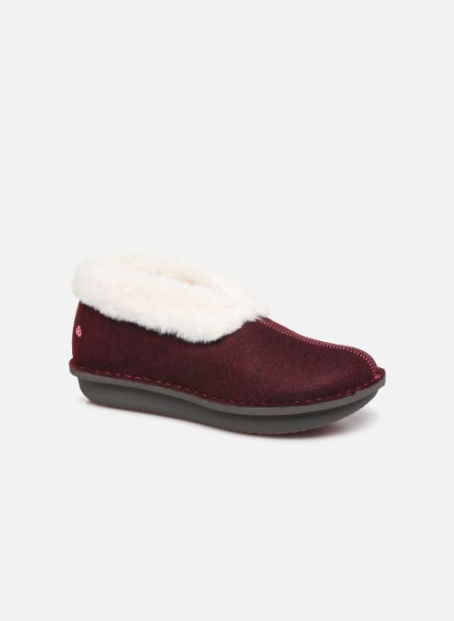Chaussons Cloudsteppers by Clarks Step Flow Low Bordeaux vue détail/paire