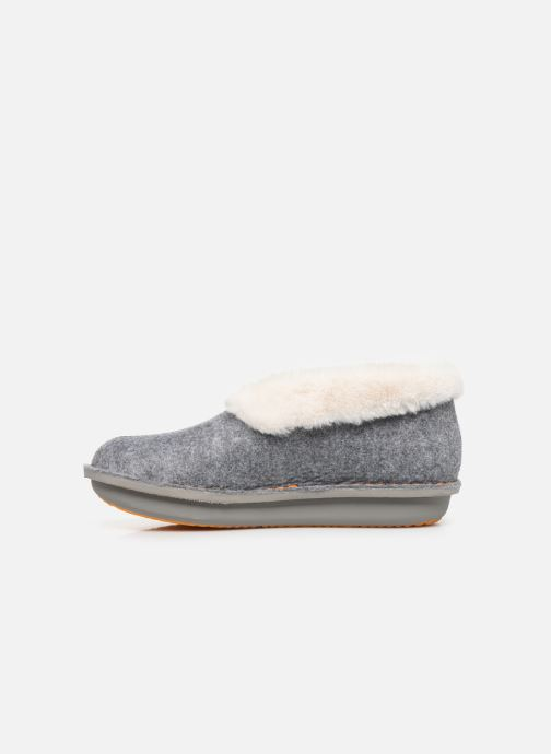 Chaussons Cloudsteppers by Clarks Step Flow Low Gris vue face