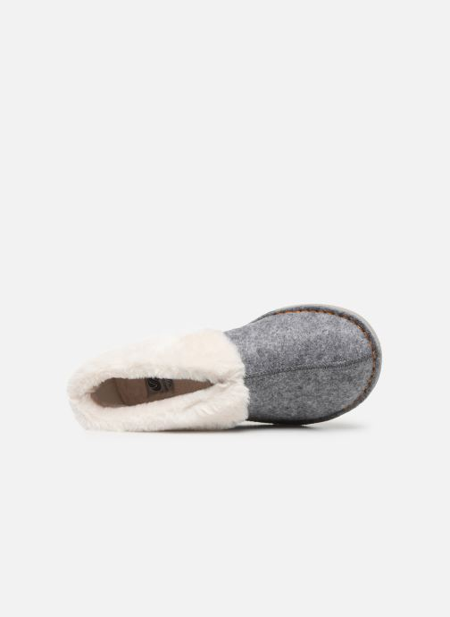 Pantuflas Cloudsteppers by Clarks Step Flow Low Gris vista lateral izquierda