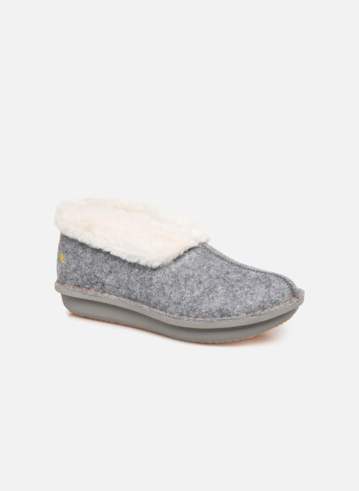 Pantuflas Cloudsteppers by Clarks Step Flow Low Gris vista de detalle / par