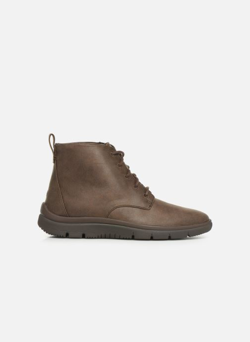 Ankle boots Cloudsteppers by Clarks Tunsil Grove Brown back view
