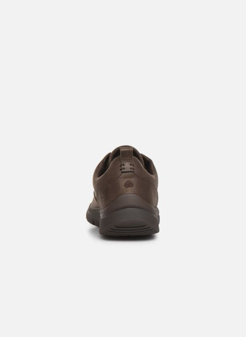 Baskets Cloudsteppers by Clarks Tunsil Lane Marron vue droite