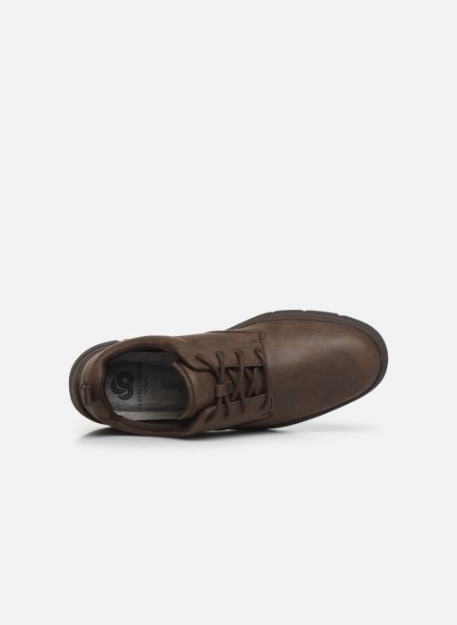 Trainers Cloudsteppers by Clarks Tunsil Lane Brown view from the left