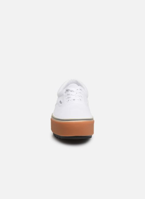 Trainers Vans Era Stacked White model view