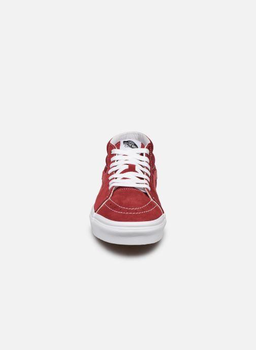 Baskets Vans SK8 Mid Rouge vue portées chaussures