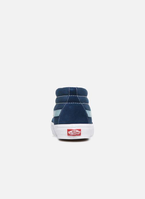 Baskets Vans SK8 Mid Bleu vue droite