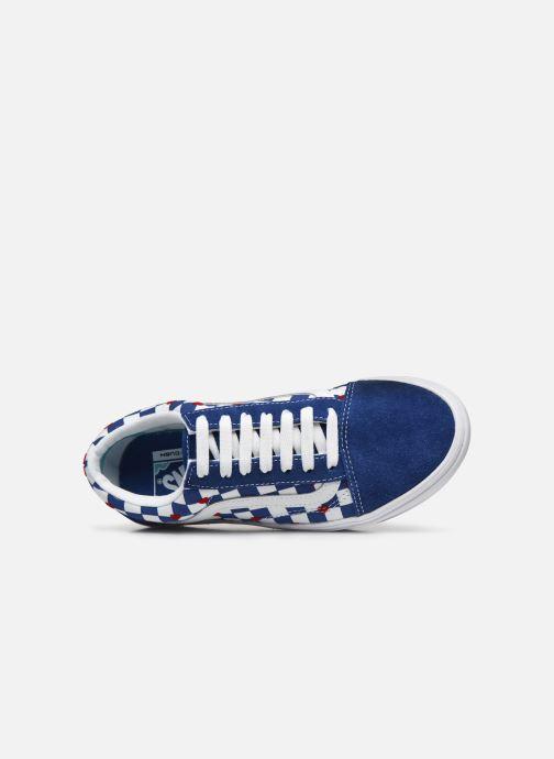 Sneaker Vans ComfyCush Old Skool W blau ansicht von links