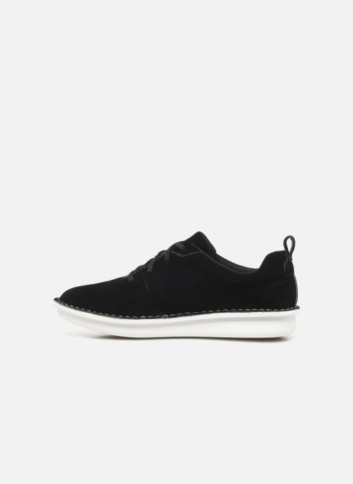 Lace-up shoes Cloudsteppers by Clarks Step Welt Free Black front view