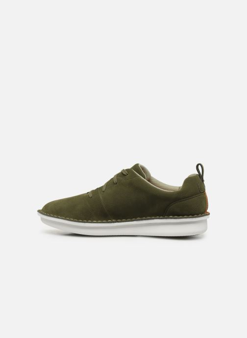 Lace-up shoes Cloudsteppers by Clarks Step Welt Free Green front view