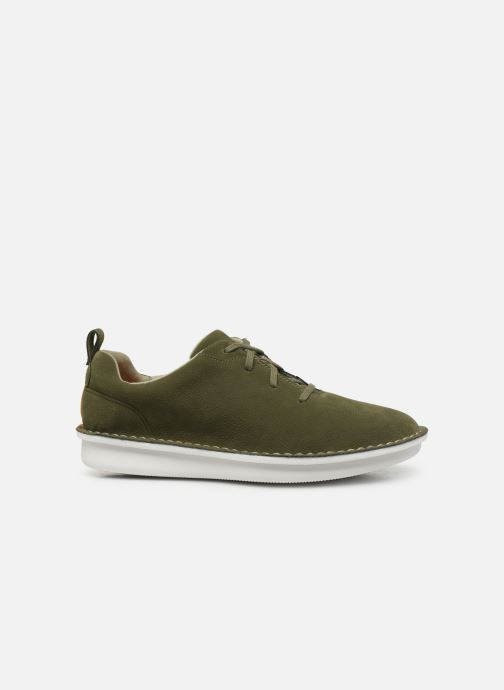Lace-up shoes Cloudsteppers by Clarks Step Welt Free Green back view